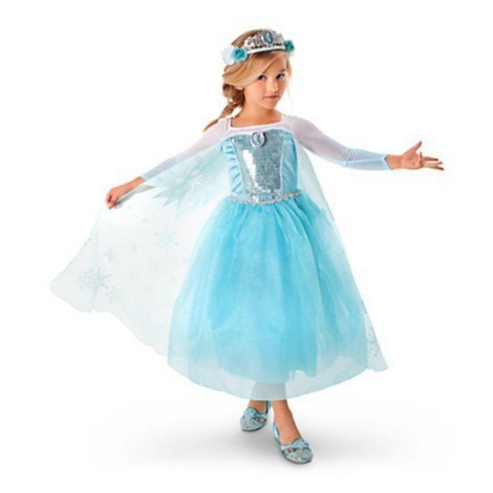 Frozen Queen Elsa Costume Amazon Es Juguetes Y Juegos Fiesta