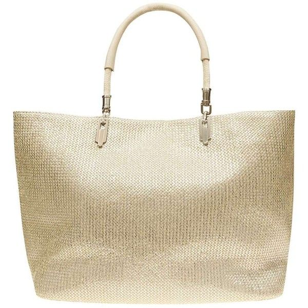 086771f62 Dorothy Perkins Silver shimmer beach tote Bag (2,615 DOP) ❤ liked on  Polyvore featuring bags, handbags, tote bags, silver, beach tote, brown  purse, ...