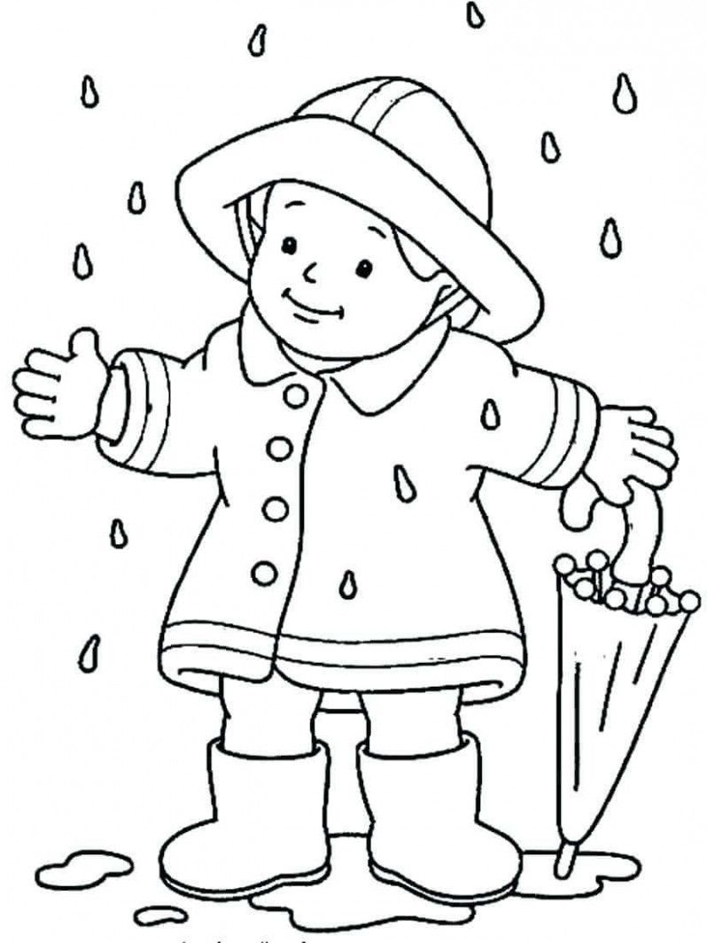 21 Great Printable Rainy Day Coloring Pages Ideas That You Can