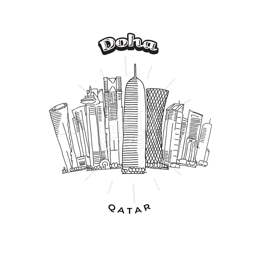 Doha Towers Skyline | Blazonion | Crafts with pictures