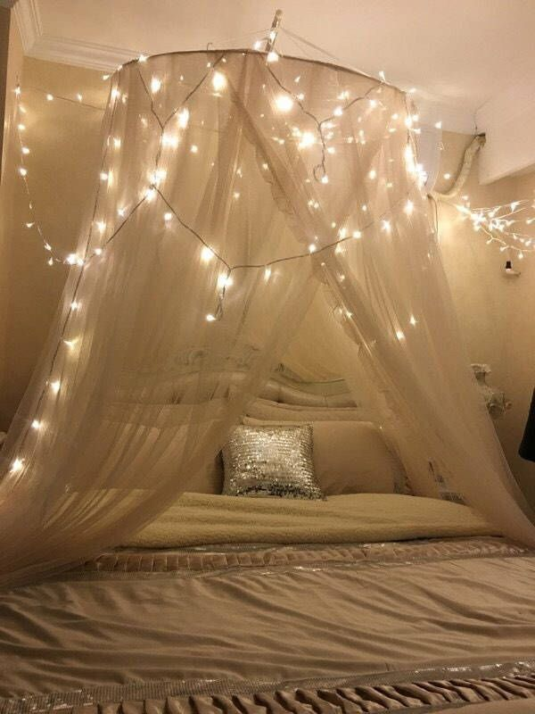 Pin By Hollyann Hancock On Room Bed Curtains Bed Lights