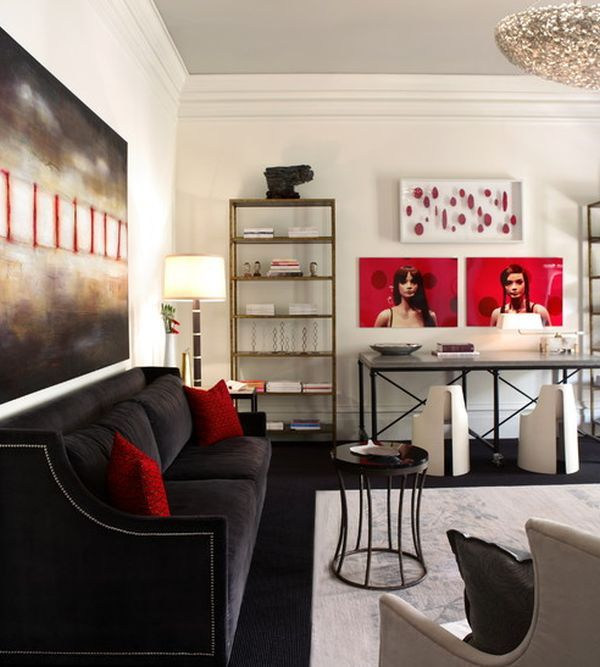 White, black and red once again combine to bring home some Hollywood charm!