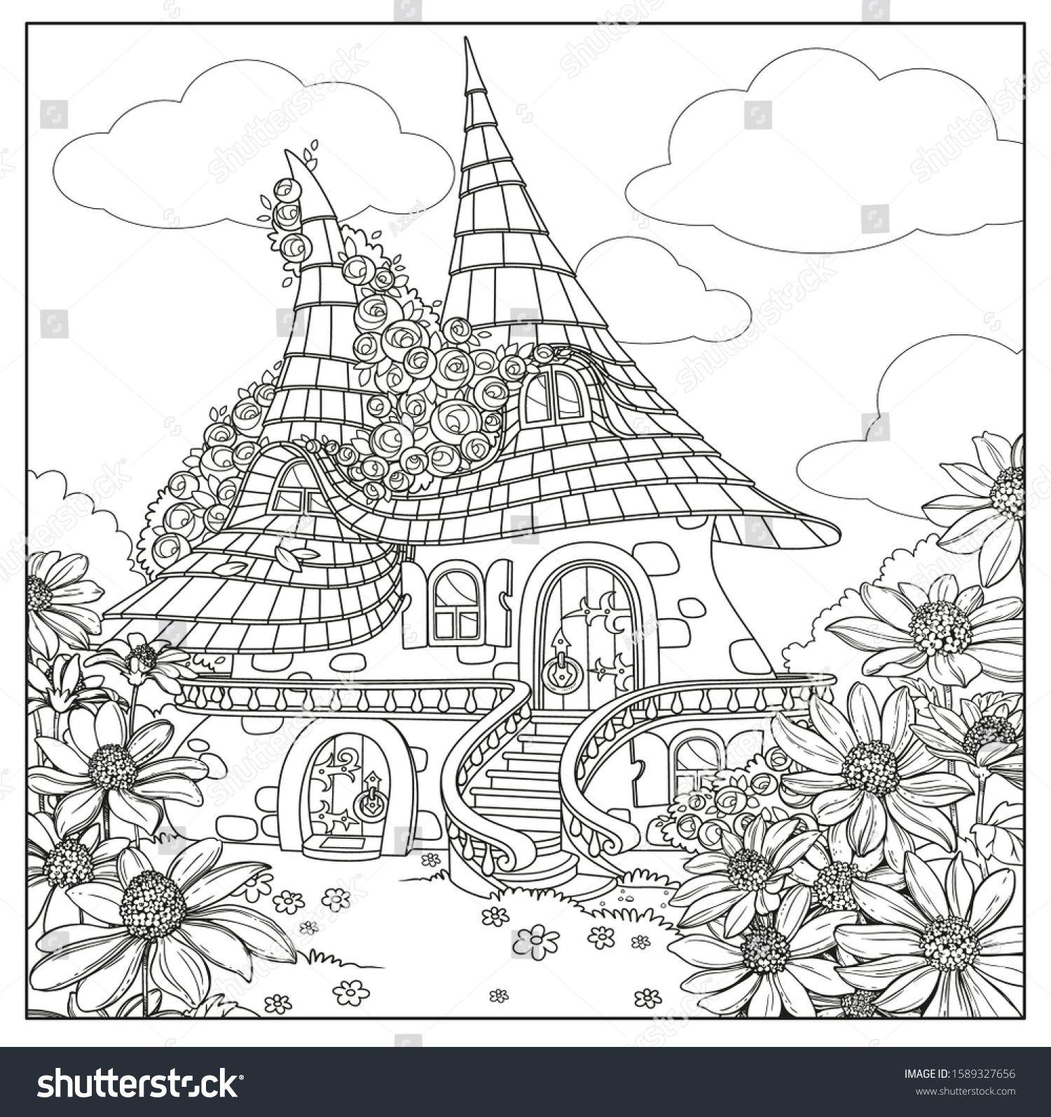Summer Fairy Tale Big Home Two เวกเตอร สต อก ปลอดค าล ขส ทธ 1589327656 ภาพประกอบ
