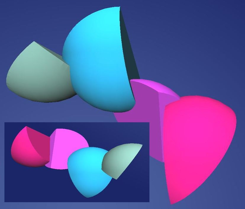 One of Hiltje's 3D models from 2 perspectives. Cloud9 is the 1st 3D modelling package she has ever tried!
