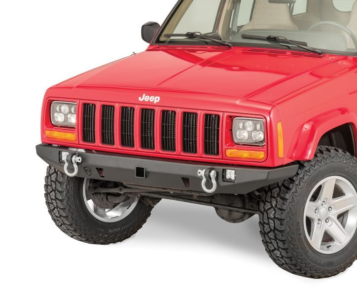 Jcr Offroad Crusader Front Bumper With 2 Receiver Hitch For 84 01