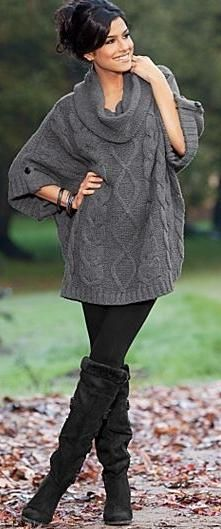 303c93672c7 Oversized sweaters    leggings. My favorite kind of outfits ...