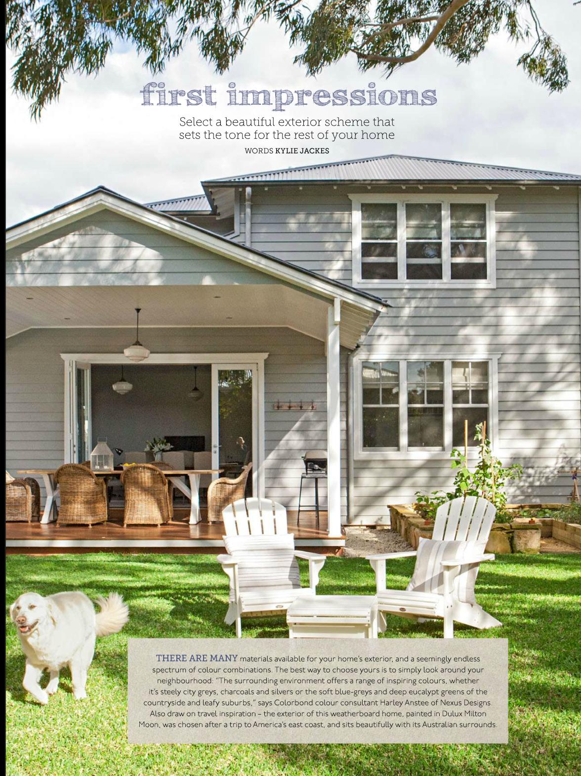 10 weatherboard house colours exterior colour - Colorbond exterior colour schemes ...