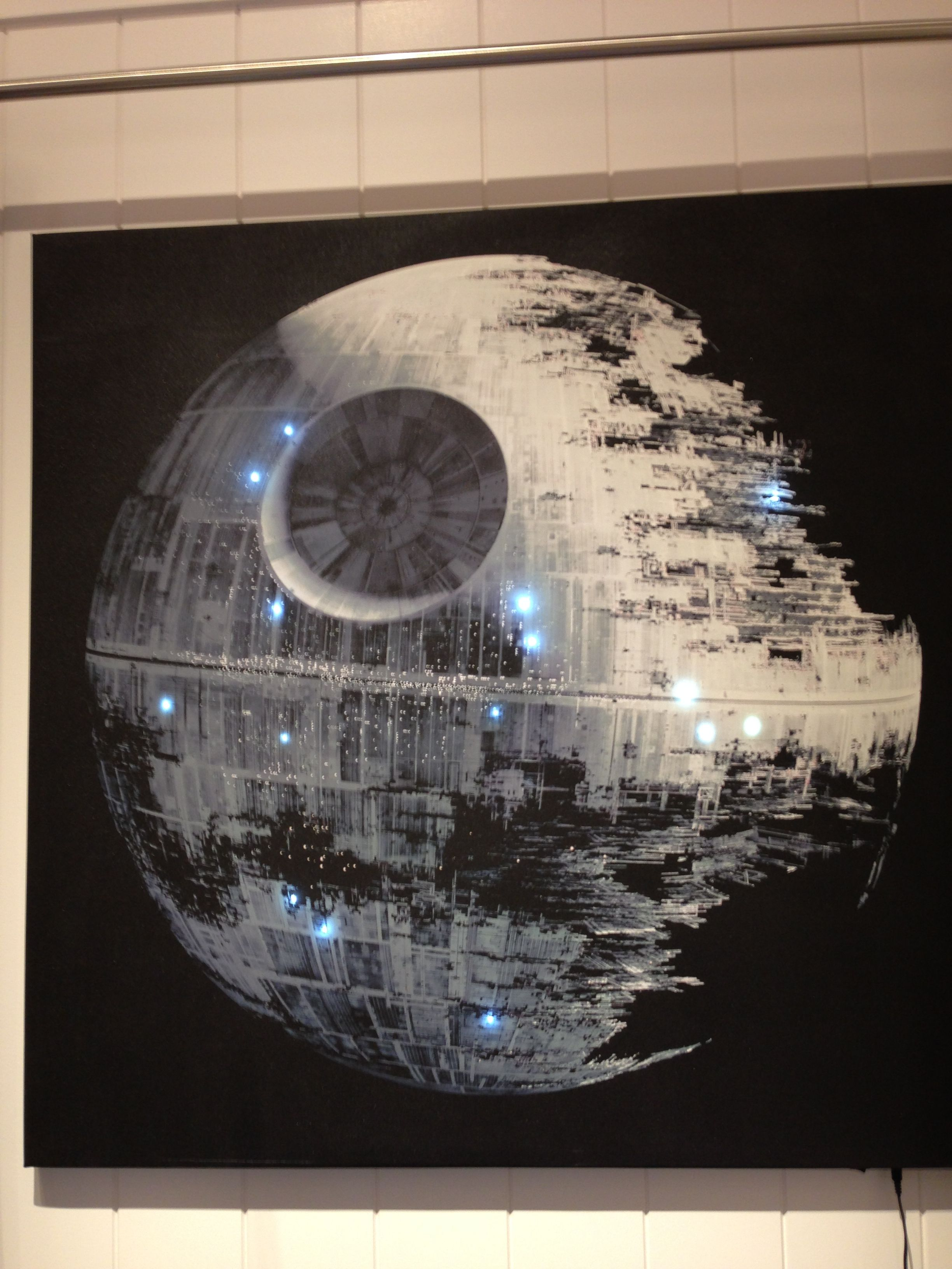 Star Wars Death Star canvas that lights up. Too cool!!! | Tempest ...