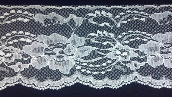 Ivory Flat Lace 3.5 Inches Wide BY the YARD by VictorianWardrobe