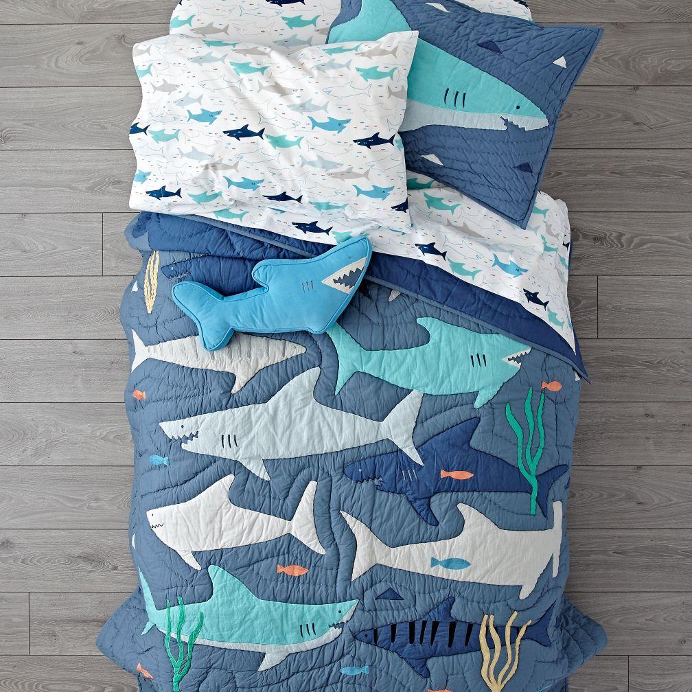 Organic Shark Bait Sheet Set Toddler Room In 2019