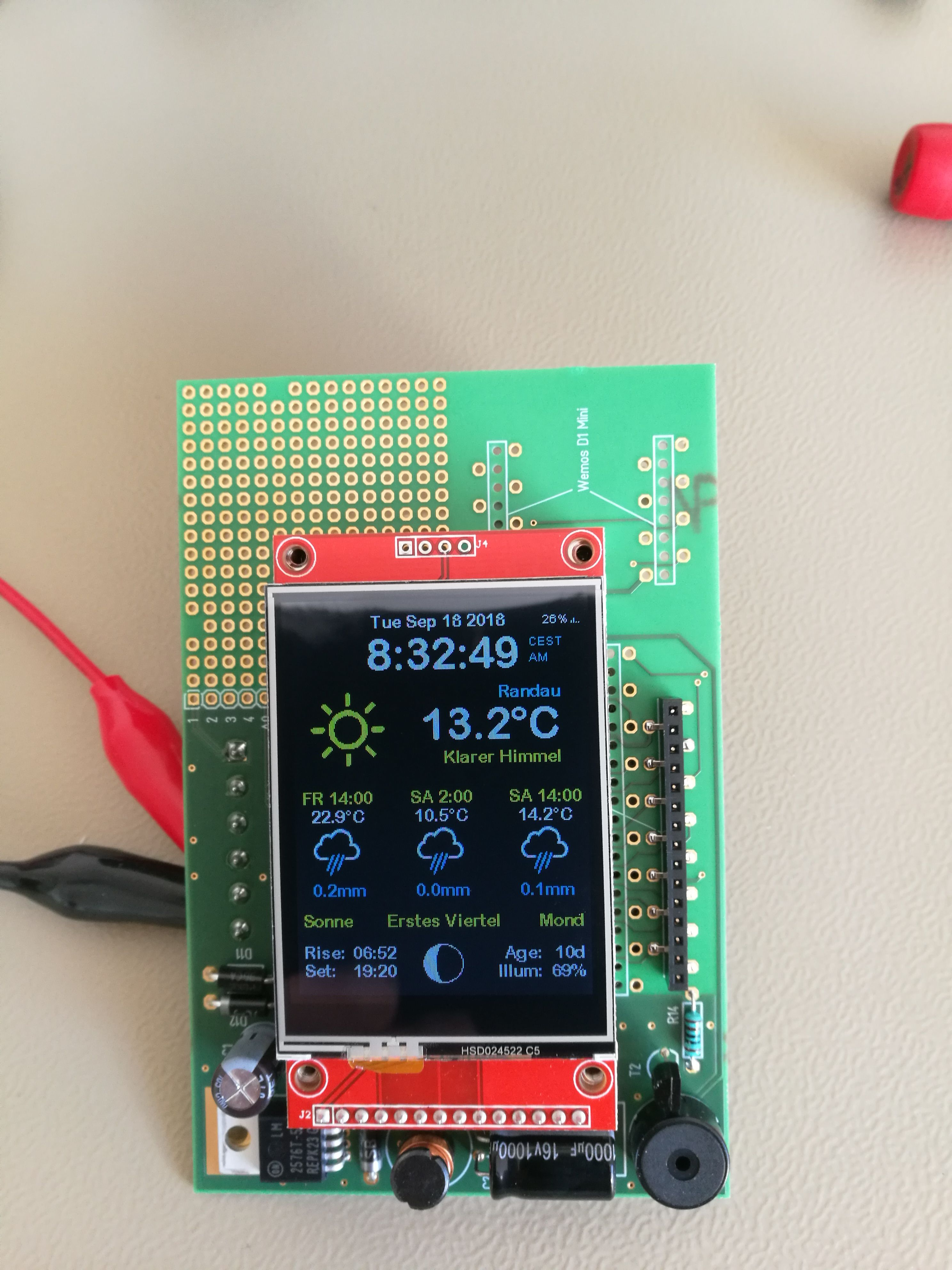 Arduitouch Touchscreen For Top Wall Mounting Of Esp8266 Esp32