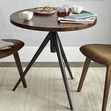 West Elm Round Adjustable Bistro Table Can Easily Go From Cafe