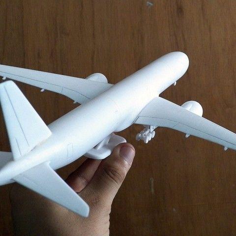 Boeing 777x Aircraft Scalemodel Boeing Easy Paintings 3d