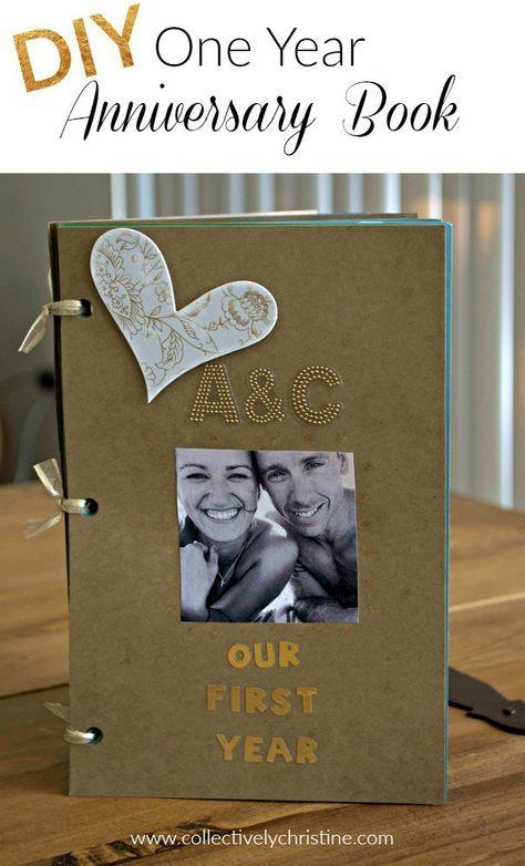 DIY One Year Anniversary Scrapbook Gift for Boyfriend ...