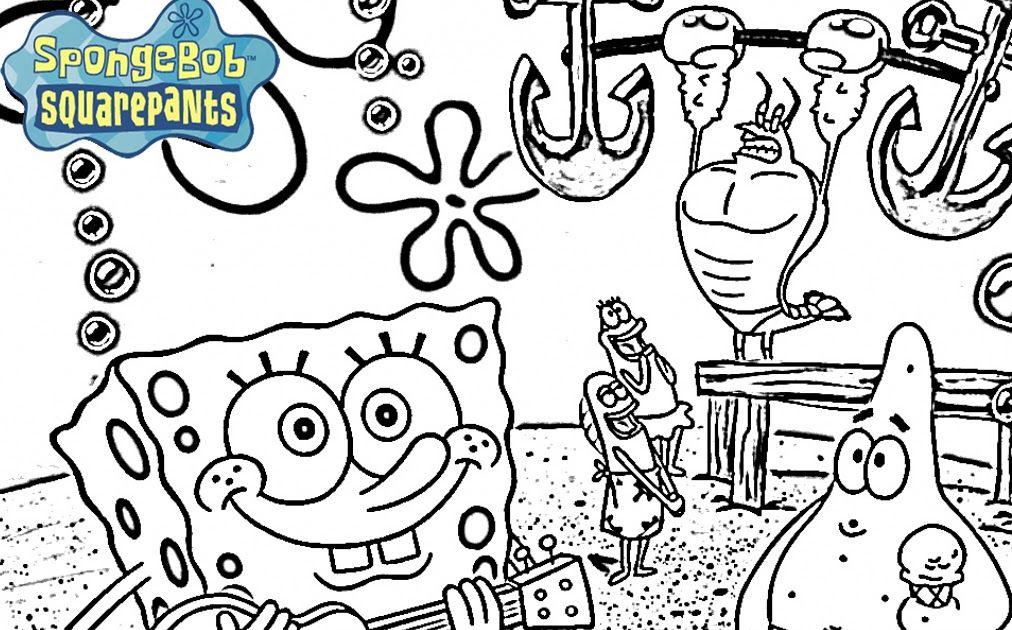 Gambar Spongebob Anak Tk Kumpulan Gambar Mewarnai Spongebob Untuk Anak Marimewarnai Com Cara Menggambar Dan Mewarnai Spongebo Di 2020 Spongebob Lukisan Pemandangan
