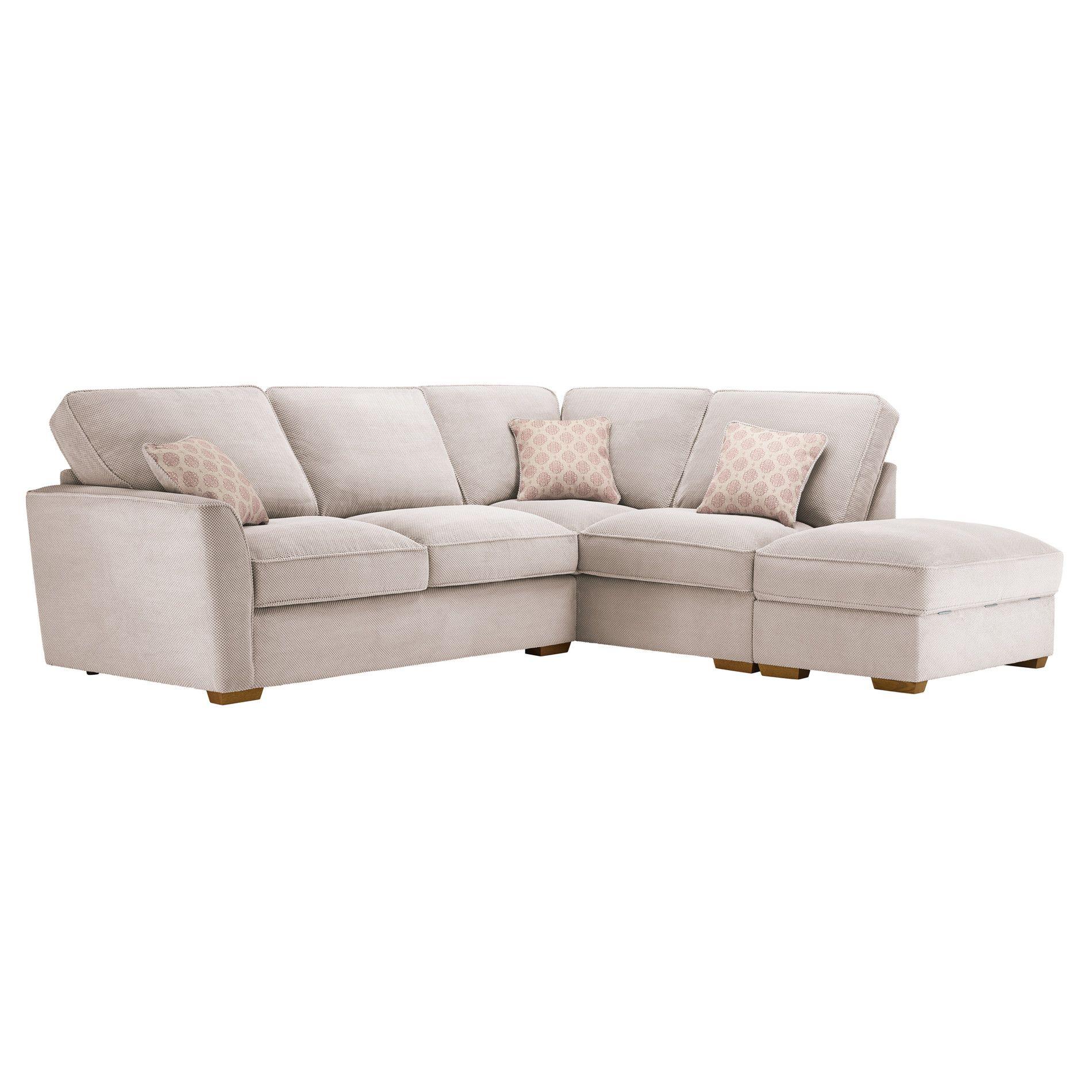 Fawn Fabric Sofas Corner Sofa Left Hand Nebraska Range Oak Furnitureland Corner Sofa With Storage Storage Footstool Corner Sofa