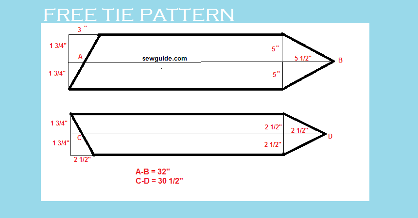 How to Make a TIE - Free DIY pattern & tutorial - Sew Guide ...