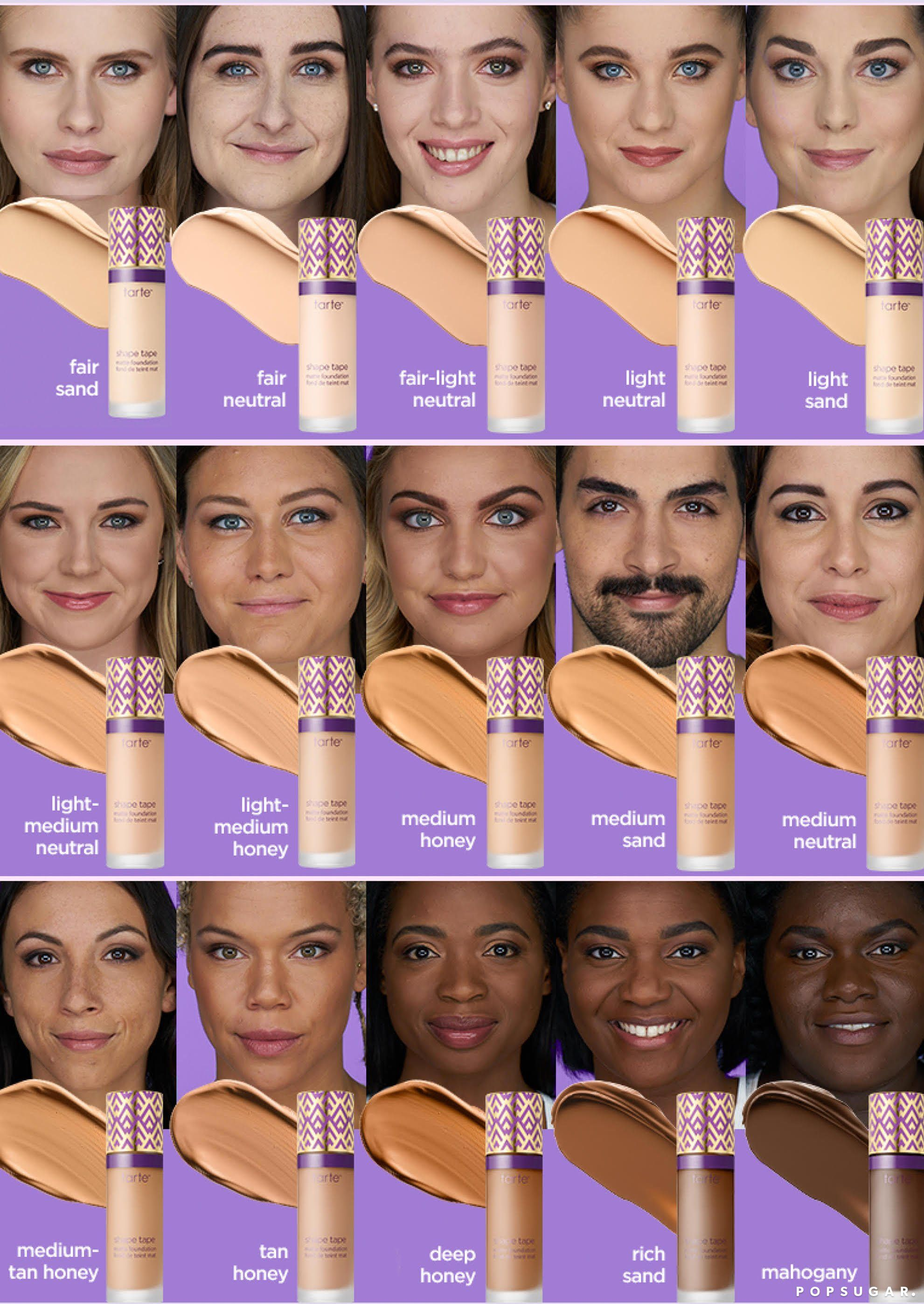 Tarte Shape Tape Foundation Swatches And Shades Tarte