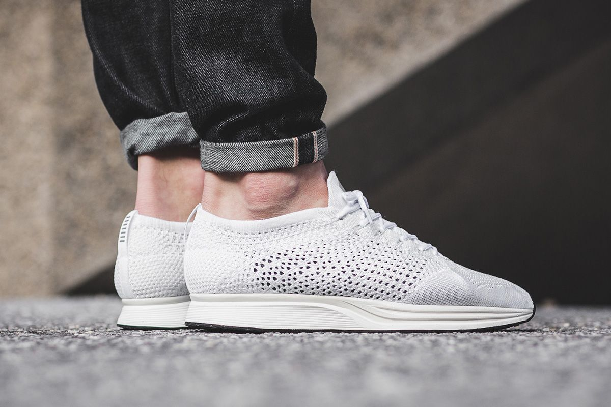 50060310965eb On-Foot  Nike Flyknit Racer  White Sail Pure Platinum  - EU Kicks  Sneaker  Magazine