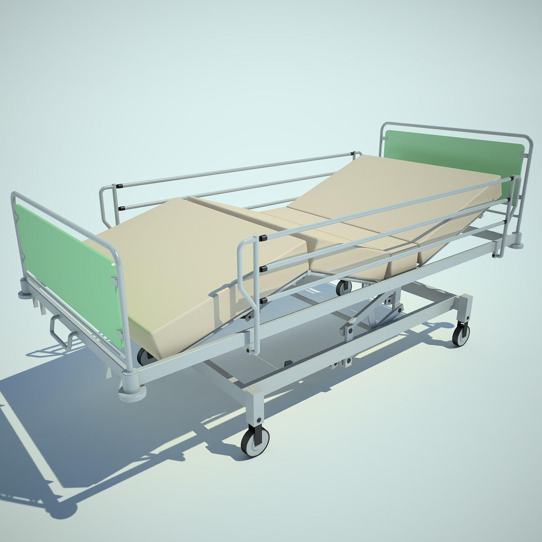 3d hospital bed 3d model 3d modeling pinterest hospital bed