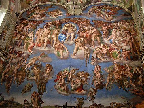 Fresque De Michelangelo Chapelle Sixtine Le Jugement Dernier 1536