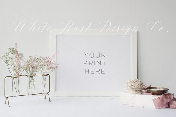 Frame mock up - PSD/Jpeg by White Hart Design Studio on Creative ...