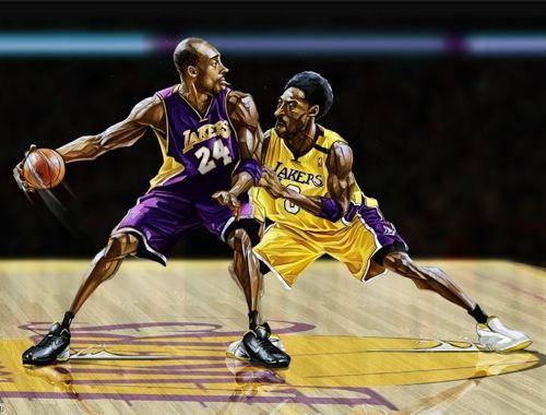 Kobe Bryant '24 Versus 8′ Art | Art | Kobe bryant 24, Kobe ...