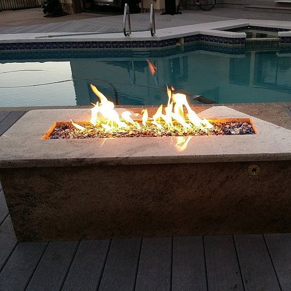 D I Y 26 Long Propane Trough Wall Fire Table Burner Fire Pit