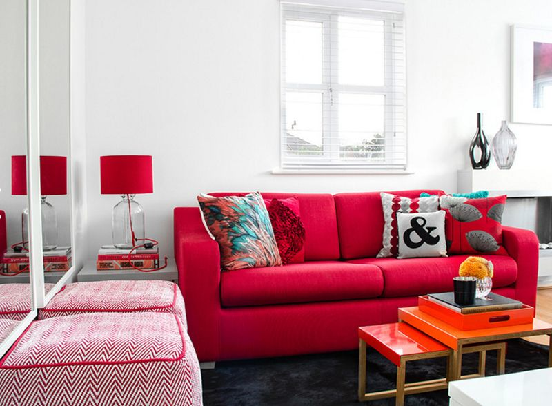 20 charismatic red living room couches  red couch living