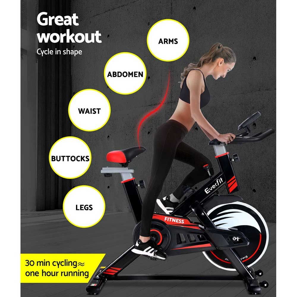 Everfit spin exercise bike fitness commercial home workout