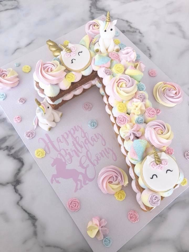 The BEST Unicorn Themed Sweet Treats - Unicorn birthday cake, Unicorn themed cake, Unicorn cake, 7th birthday cakes, Cake, Number cakes - I've been on the search for some of the BEST Unicorn themed cakes, and I've popped my findings below