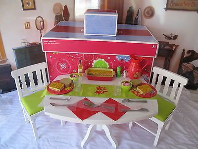 American Girl My Ag Dining Room Set Delicious Dinner Set New In