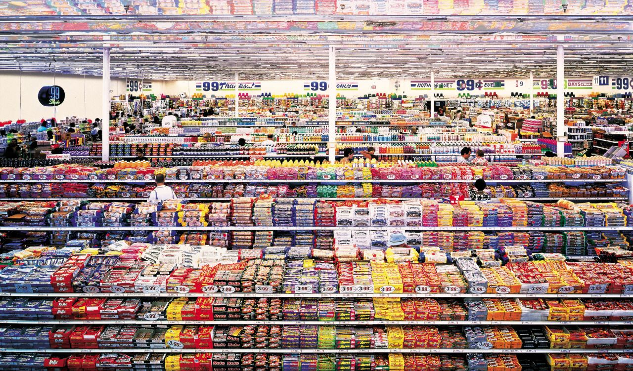 Andreas Gursky 99 Cent 1999 Los Angeles Ca Usa Andreas Gursky Hayward Gallery Photo