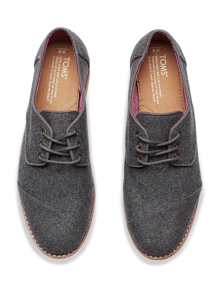 255a562df4c Try these grey wool women s lace-ups for the office or with a pair of jeans.