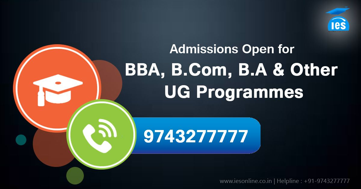 Admission open for bba ba other ug programmes