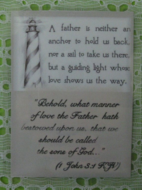 Father S Day Laminated Gift Scripture Card By Countrysquirrelsnest