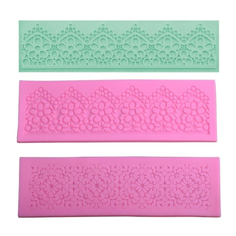 Photo of US $ 1.14 25% OFF   Flower lace silicone Matte chocolate mold fon …