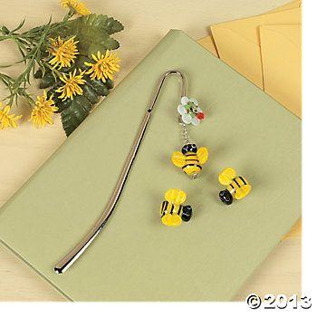 Bumblebee Lampwork Bookmark