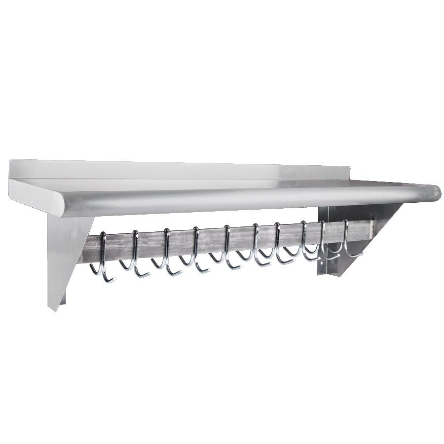 "Regency 12"" X 36"" Stainless Steel Wall Mounted Pot Rack"