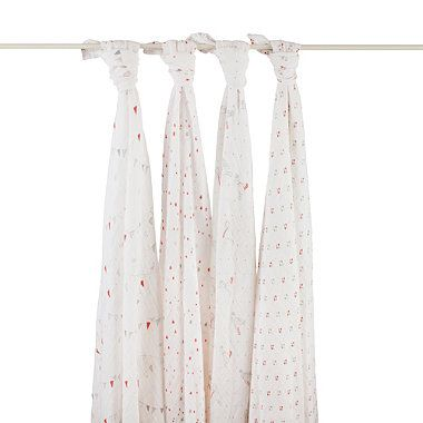 aden + anais® Classic 4-Pack Muslin Swaddles in Make Believe - Great for swaddling, covering up from the sun, nursing covers…love these!