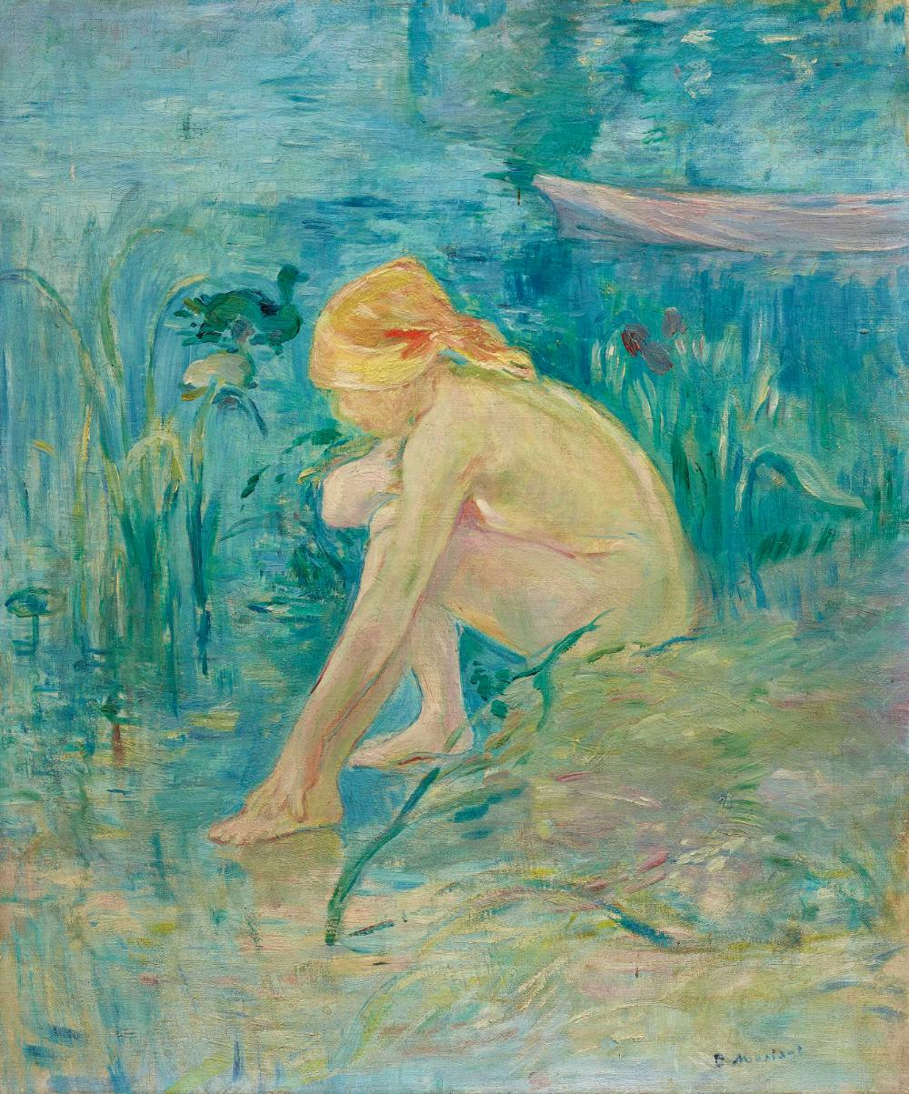 Bañista, 1891 | Berthe Morisot | Pintor, Desnudos, Grutas