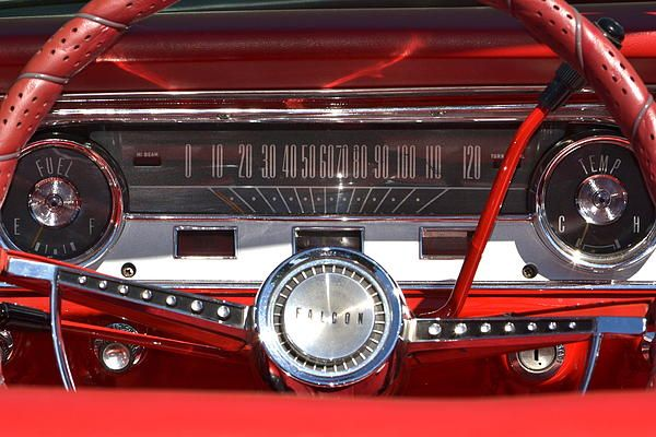 Ford Skyliner Dash Photograph Ford Falcon Cool Old Cars Ford