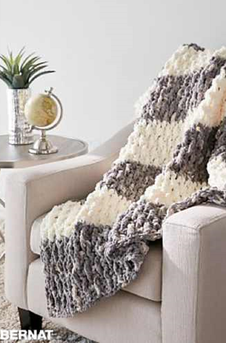 Quick And Easy Crochet Blanket Pattern With Eye Popping Texture ...