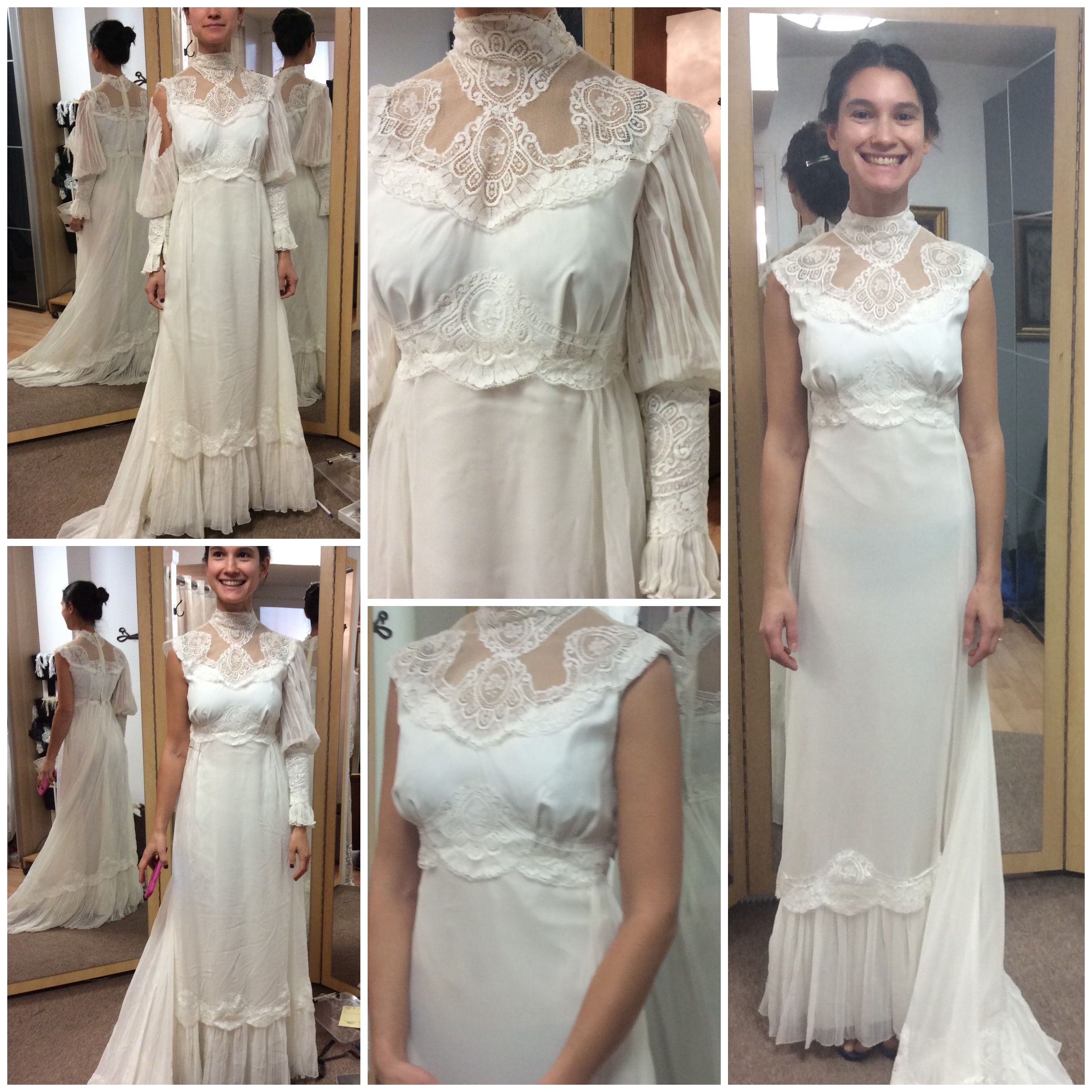 Transformation of the heirloom mother\'s wedding dress to beautiful ...