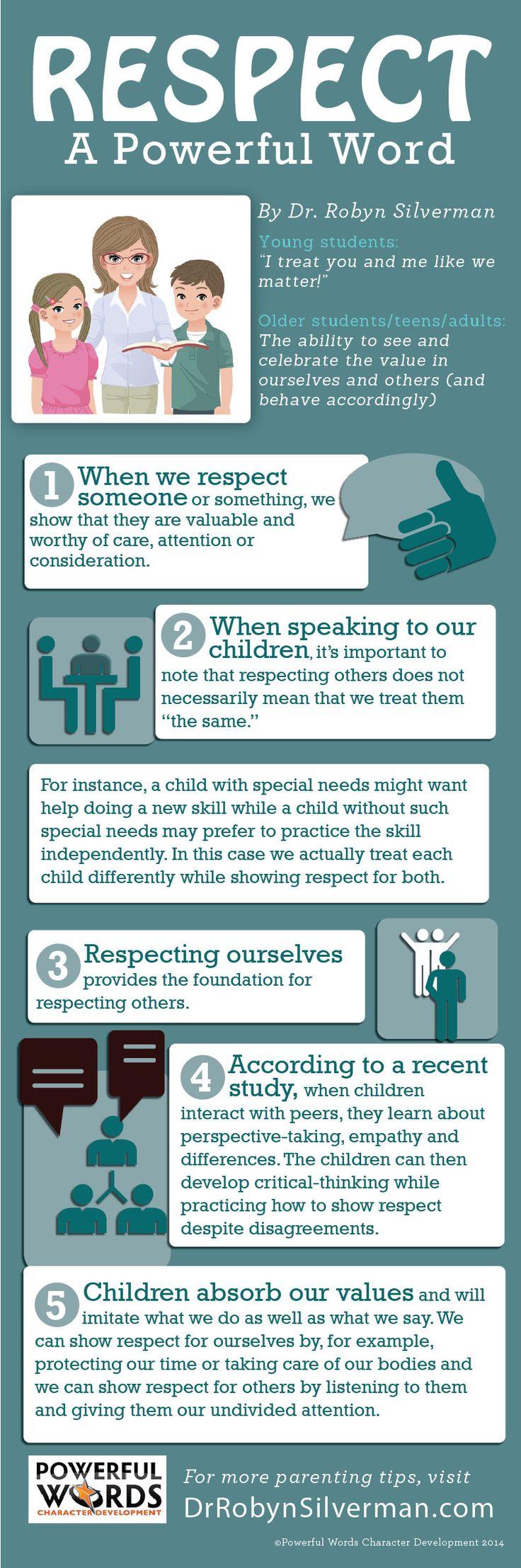 October, 2014 Powerful Word Respect Teaching kids