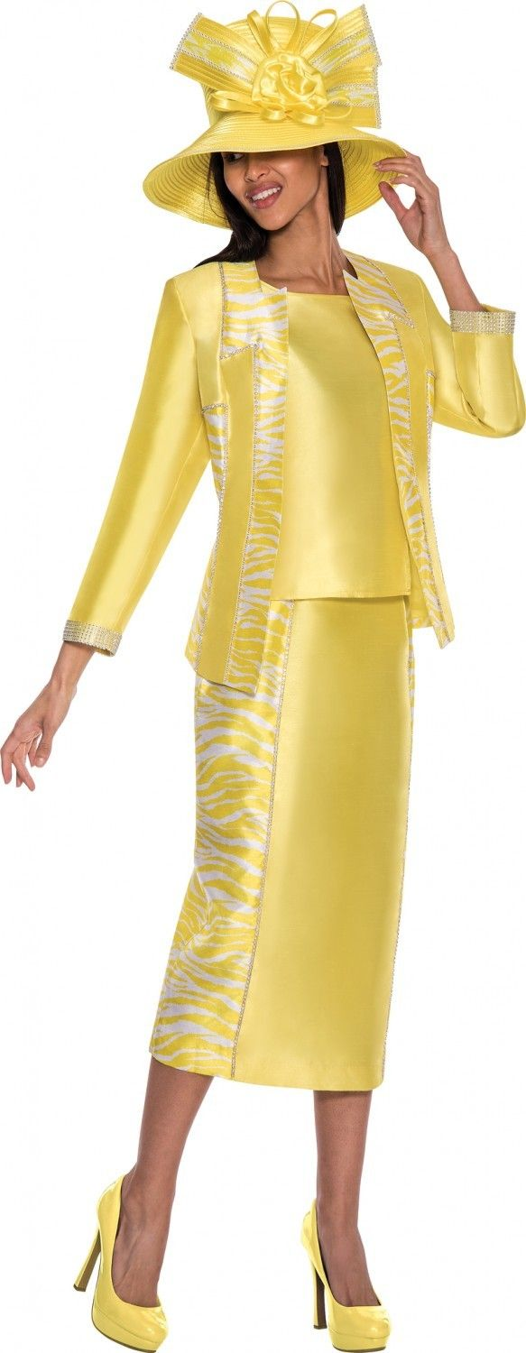 69478523fc3 GMI G5653 Yellow Womens Church Suits - Divine Church Suits
