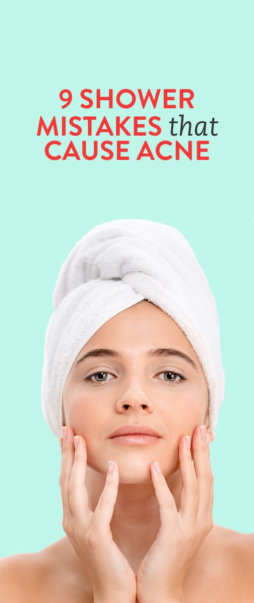 9 Shower Mistakes That Can Cause Acne