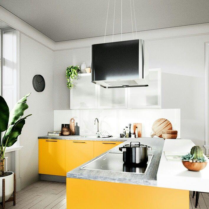 UNO Goldgelb Produktlinie Classic #häckerküchen #küchen #küchenplanung # Farbe #classic #moderneküche