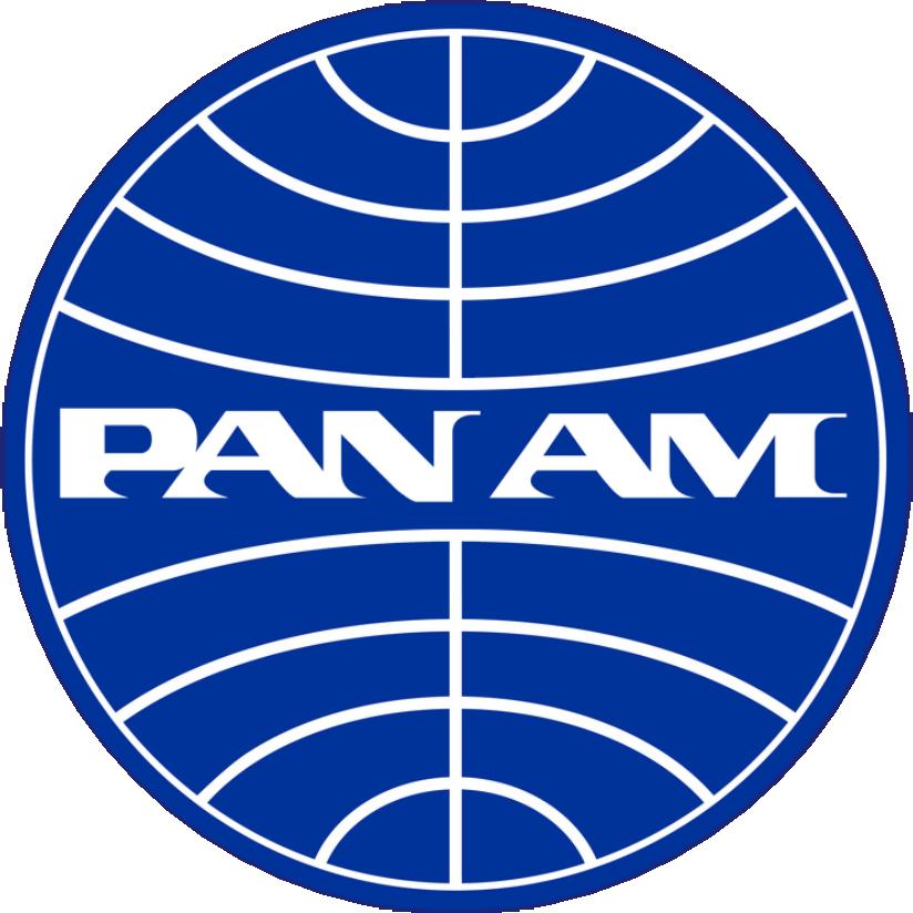 /'PAN AM/' BUTTON BADGE PIN