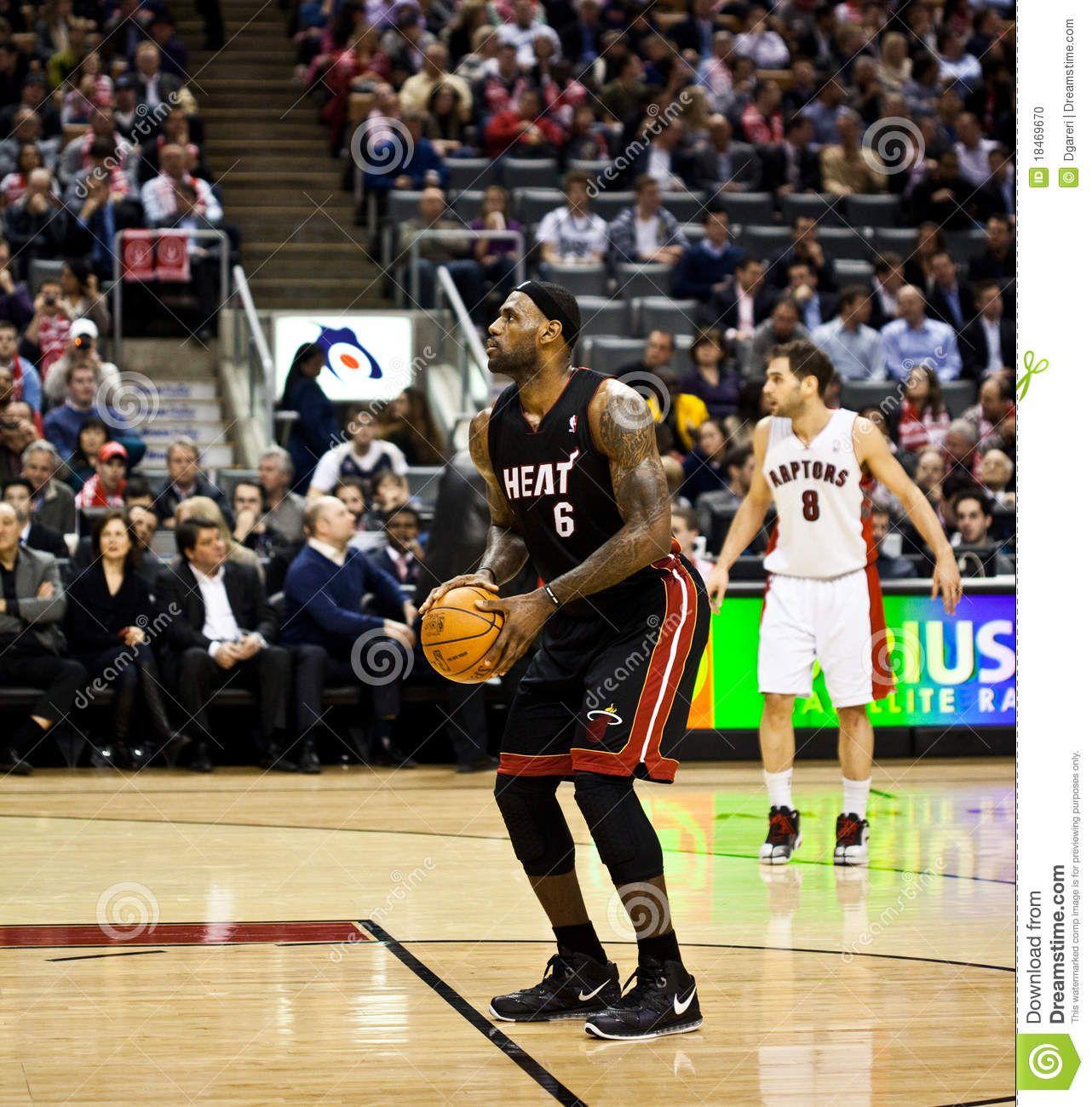 Miami Heat Vs Toronto Raptors Toronto February 16 Lebron James Toronto Raptors Miami Heat Raptors